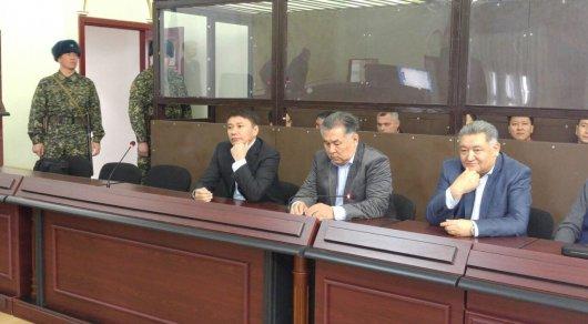 Талгата Ермегияева в суд доставили в сопровождении сотрудников спецподразделения. Фото Асель Сатаева©