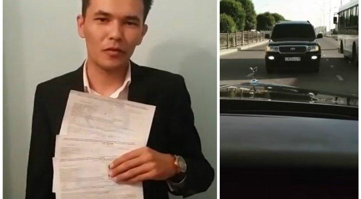 Шымкентский водитель, ставший героем Сети, раскаялся на камеру