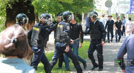 Задержания в Алматы. Фото Tengrinews.kz