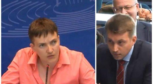 Савченко резко ответила российскому журналисту на ПАСЕ