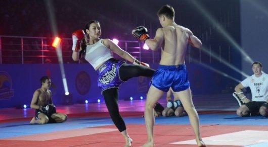 Звезда UFC Хабиб Нурмагомедов провел тренировку в Астане