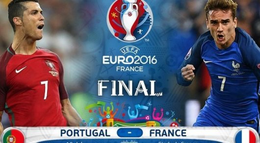 Финал Евро-2016: сборная Франции против Португалии