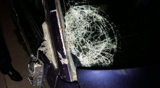 Водитель Mercedes-Benz сбил пешехода на тротуаре в Алматы