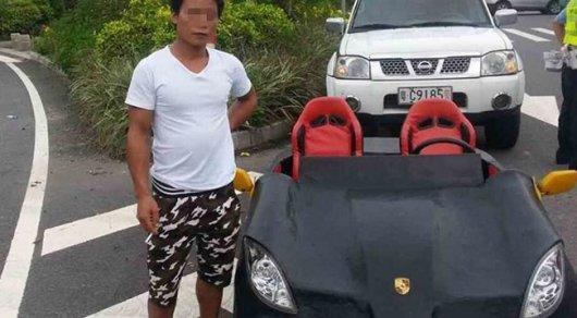 Китайца оштрафовали за езду на самодельном Lamborghini