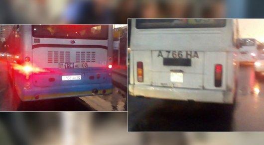 В Алматы наказали водителей автобусов, устроивших гонку на дороге