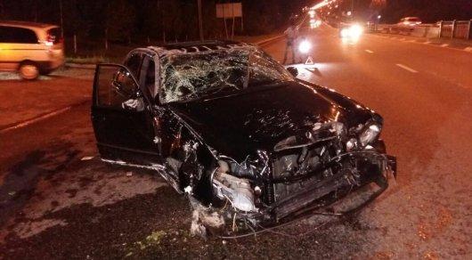 Автомобиль перевернулся в ходе ДТП на ВОАД