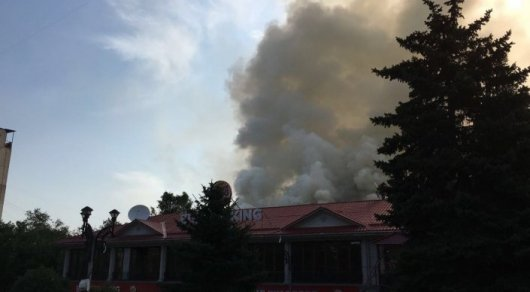Пожар на алматинском Арбате ликвидирован