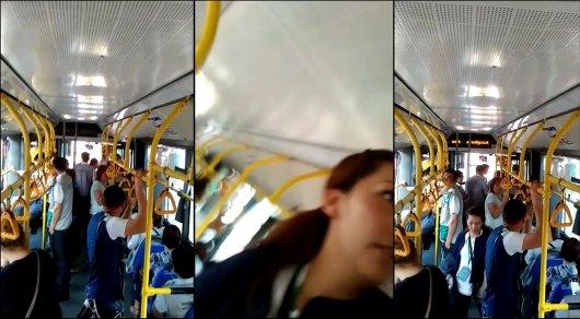 Конфликт между контролером и пассажиром произошел в троллейбусе в Алматы