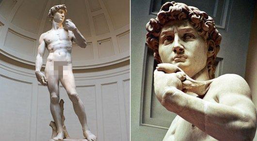 """В Санкт-Петербурге решили накрыть одеждой """"стыдную"""" статую Давида"""