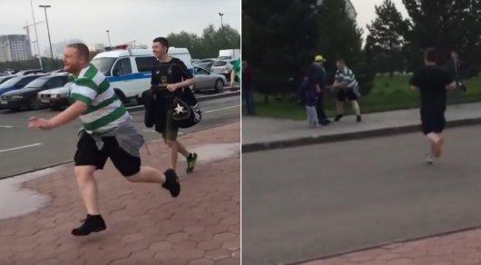 "Фанат ""Селтика"" силой отобрал у болельщика ""Астаны"" шарф"