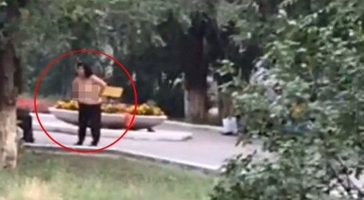 Полуголой женщине, пристававшей к прохожим в парке Актобе, грозит до 5 суток ареста