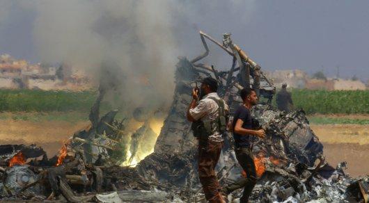 Сирийцы требуют обмен натела граждан России сосбитого Ми-8