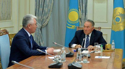 Встреча с акимом Южно-Казахстанской области Бейбутом Атамкуловым akorda.kz ©