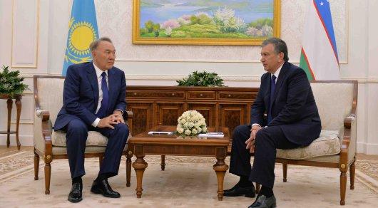 Назарбаев встретился с ВРИО президента Узбекистана Шавкатом Мирзиеевым