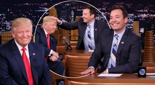 Ведущий взлохматил знаменитую прическу Трампа в прямом эфире