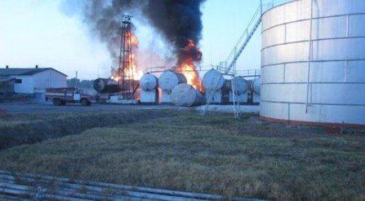 ВЖамбылской области врезультате сильного возгорания пострадали три рабочего нефтебазы
