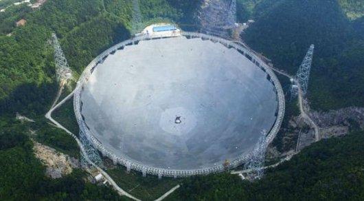 Крупнейший вмире радиотелескоп FAST начнет работу вКитайской народной республике