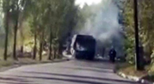 Автобус зажегся вАлматы