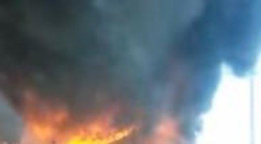 В Павлодаре горела пекарня