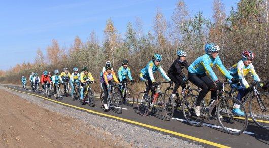 Многокилометровая велодорожка появилась натерритории «Зеленого пояса» Астаны