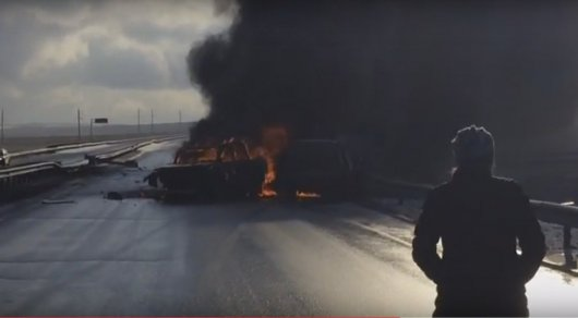 ВАкмолинской области врезультате дорожно-траспортного происшествия пострадали 4 человека