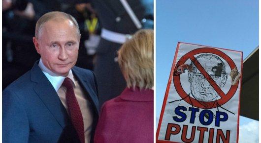 Хватит бомбить Сирию: Путина негостеприимно встретили в Берлине