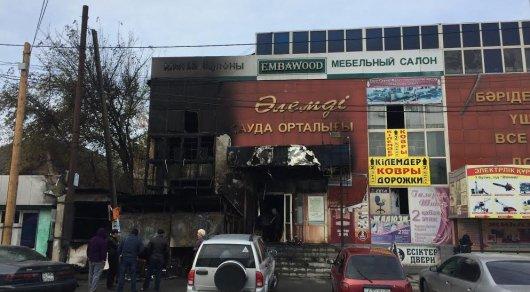 В Талдыкоргане горел торговый дом
