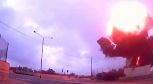 Очевидец заснял момент крушения самолета на Мальте