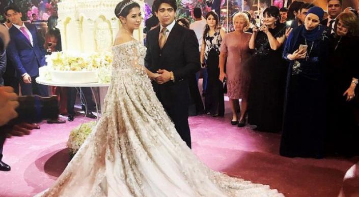 Дочь нефтяного олигарха вышла замуж в платье за 630 тысяч долларов