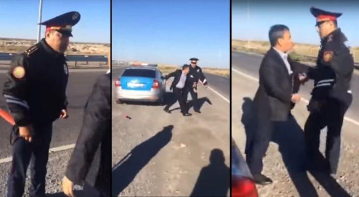 Полиция проверяет видео спора стража порядка с водителем