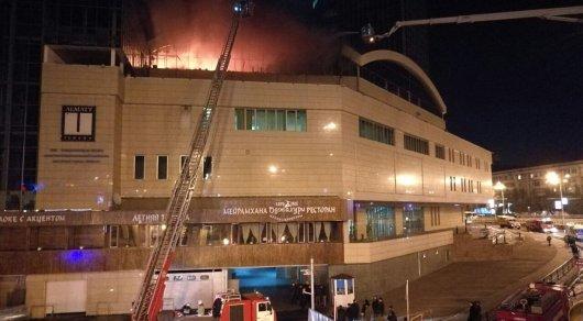 Милиция Алматы начала досудебное расследование пофакту пожара вкомплексе Almaty Towers