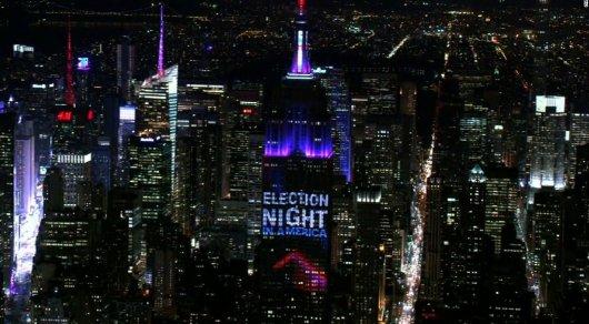 Выборы в США транслируются на 103-этажном небоскребе Нью-Йорка
