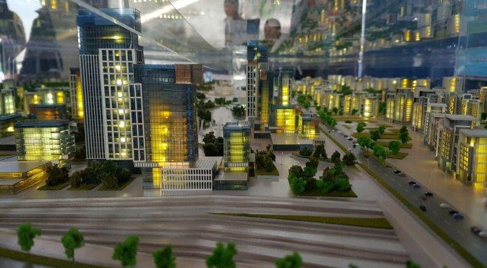 В Шымкенте показали макет микрорайона стоимостью миллиард долларов