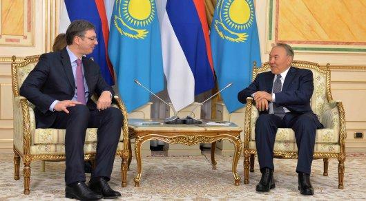 Назарбаев обсудил реализацию договоренностей с премьер-министром Сербии