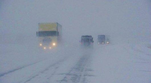 Закрыты для движения республиканские дороги в 5-ти областях Казахстана
