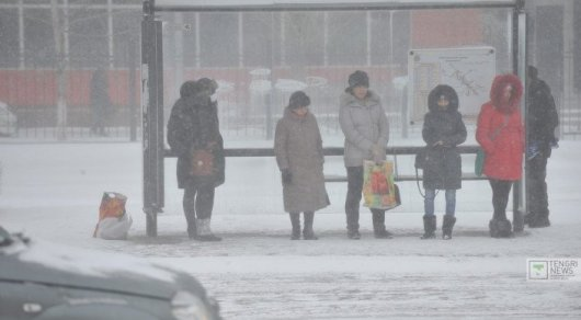 Насевере Казахстана объявлено штормовое предупреждение