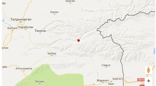 Землетрясение случилось в276 километрах отАлматы