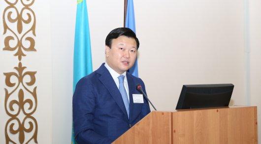 Вице-министр здравоохранения и социального развития Алексей Цой. Фото предоставлено пресс-службой КазНМУ имени Асфендиярова.
