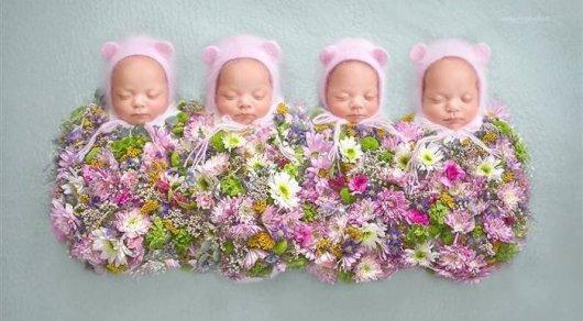 Четверняшки родились всемье пограничника вАстане