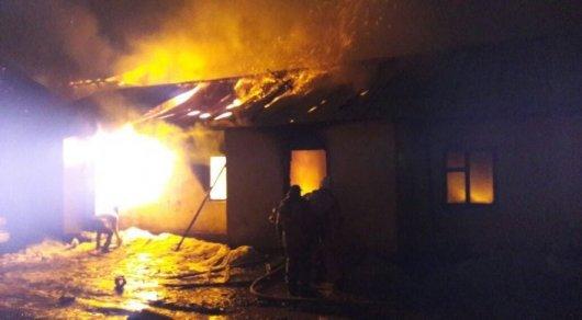 Взрыв газового баллона стал предпосылкой пожара в личном доме вАлматы