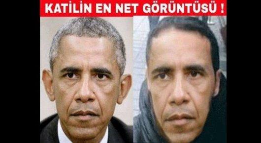 Турецкая газета Yeni Akit представила Обаму вобразе стамбульского террориста