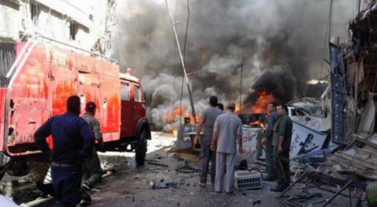 Винтернете появились первые фото сместа мощного взрыва всирийском Дамаске