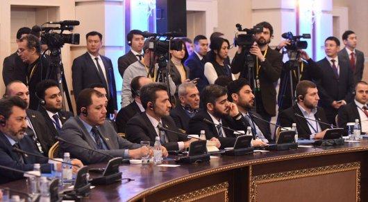 Переговоры поСирии вАстане пройдут зазакрытыми дверьми — МИД Казахстана