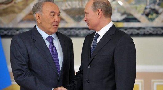 Путин поблагодарил Назарбаева запроведение переговоров вАстане