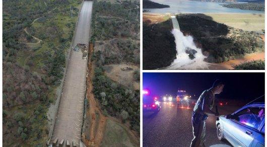 Около 200 тысяч человек были эвакуированы вКалифорнии из-за угрозы прорыва плотины