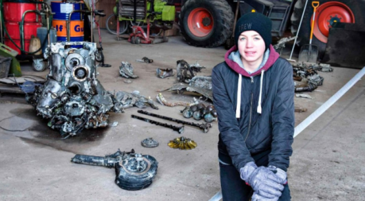 Датский школьник, делая домашнее задание, отыскал истребитель времен 2-ой мировой