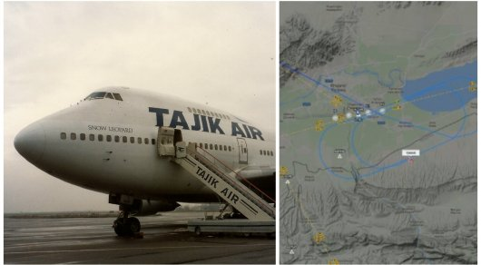 Самолет Tajik Air, вылетевший в столицу, резко сменил курс