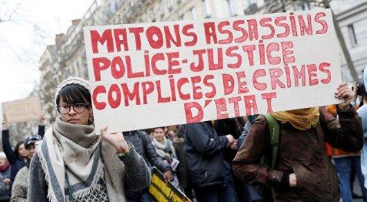 Встолице франции тысячи демонстрантов протестуют против насилия милиции