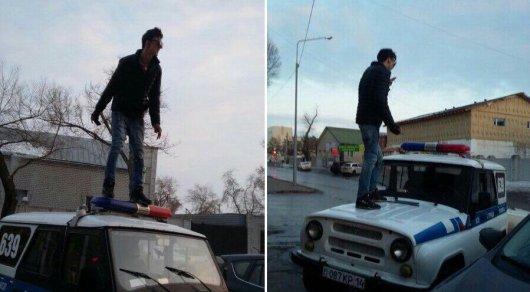 Заселфи накрыше полицейской машины павлодарца арестовали надесять суток