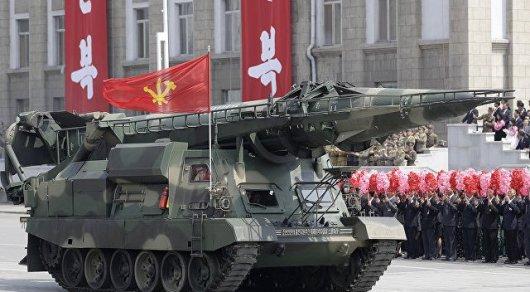 Напараде вПхеньяне увидели новейшую баллистическую ракету